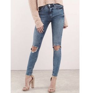 Free People Busted Knee Skinny Jeans Size 25